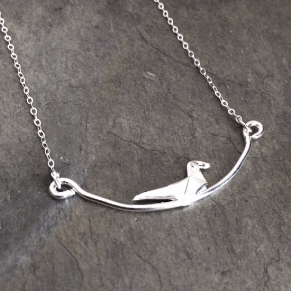dove on a branch pendant