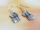 origami dog earrings