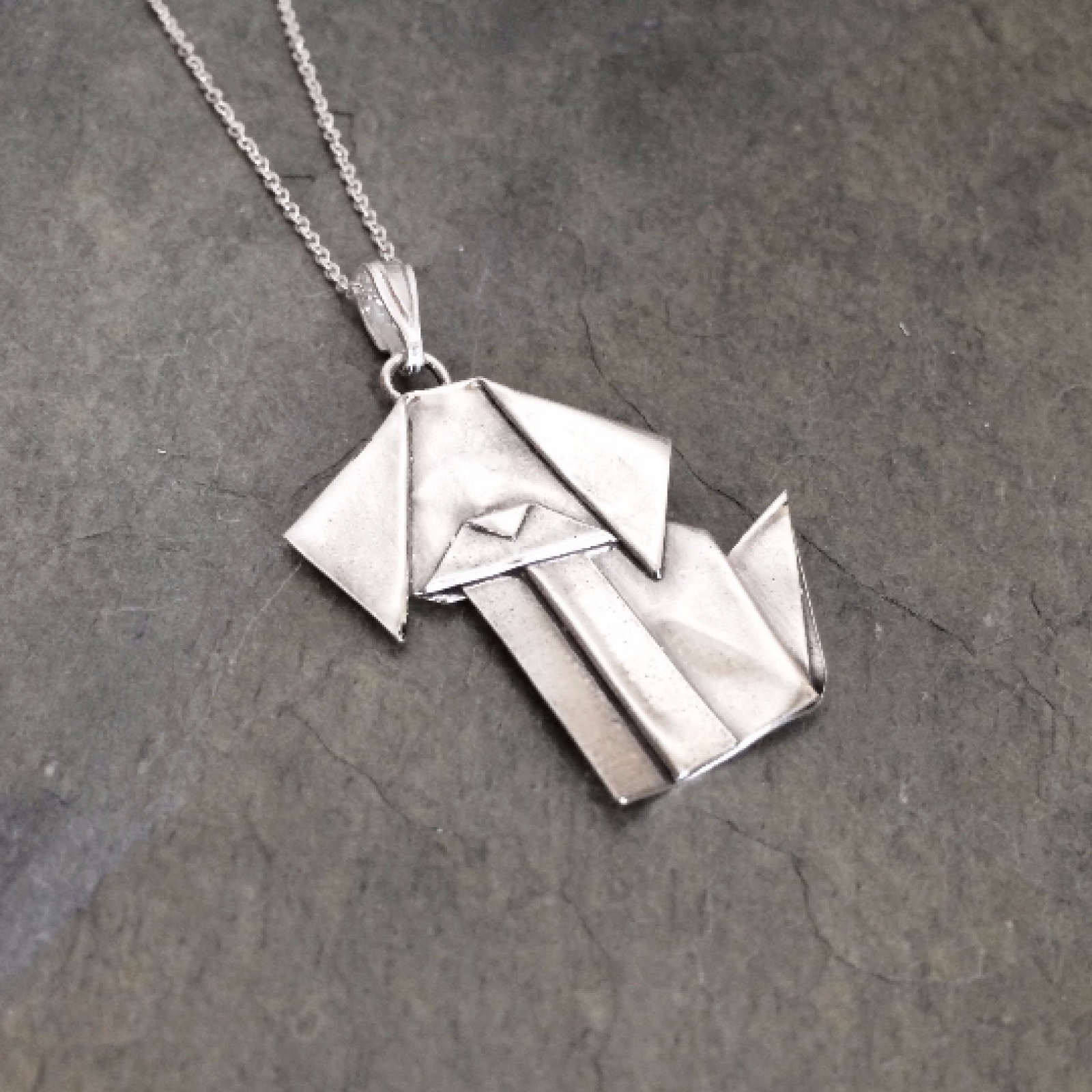 silver origami dog pendant by allegro arts | Allegro Arts - photo#28