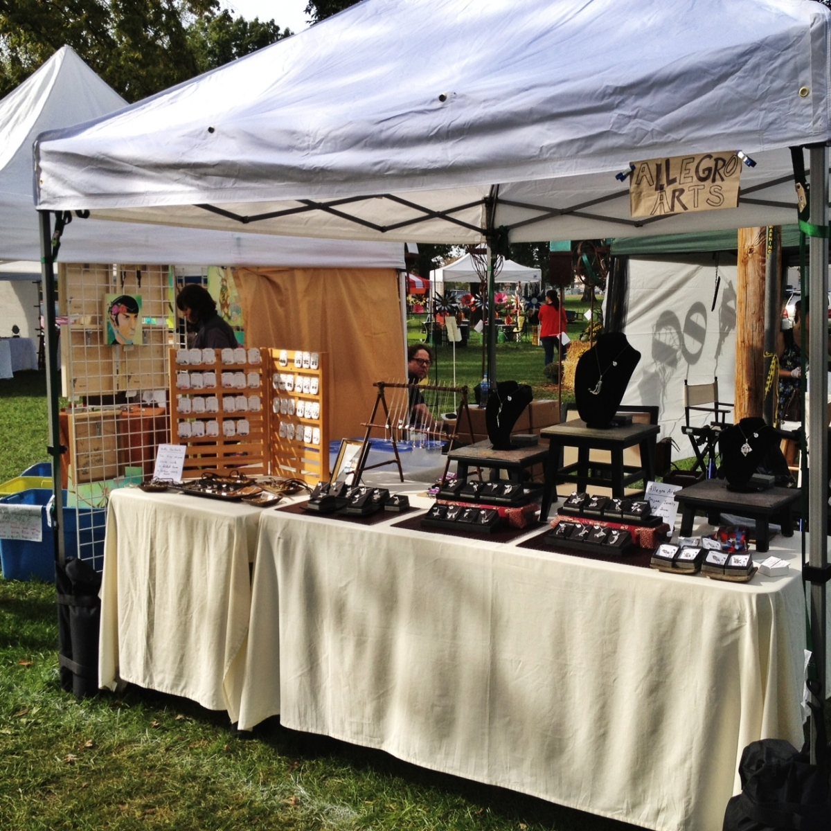 Allegro Arts booth at the festival